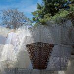 Padiglione Conifera in bioplastica stampato in 3D a Milano