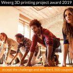 WEERG promuove un  contest per progettisti per sfidare la stampa 3D