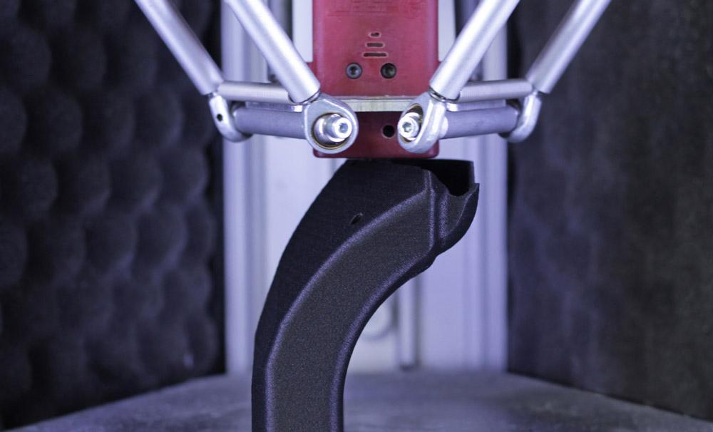 parti stampate in 3D in fibra di carbonio