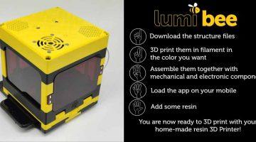LumiBee, la stampante 3D in resina che puoi creare da solo gratuitamente utilizzando la luce del cellulare – Da Lumi Industrie