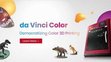 Da Vinci Color 5D la innovativa stampante a colori FDM  e a getto di inchiosto con in piu' incisione laser