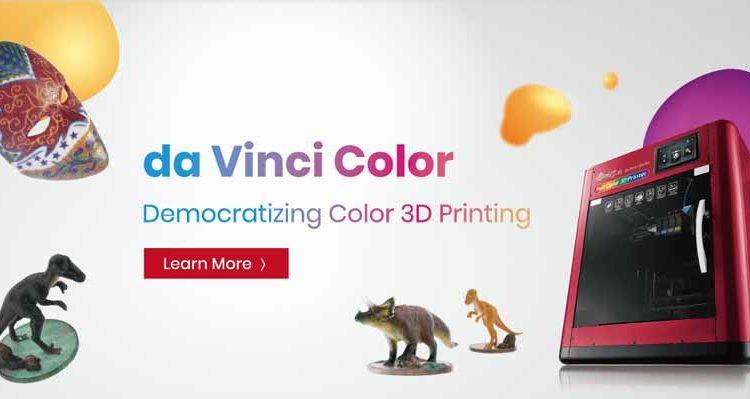 Da Vinci Color 5D la innovativa stampante a colori FDM  e a getto di inchiosto con in piu' incisione laser