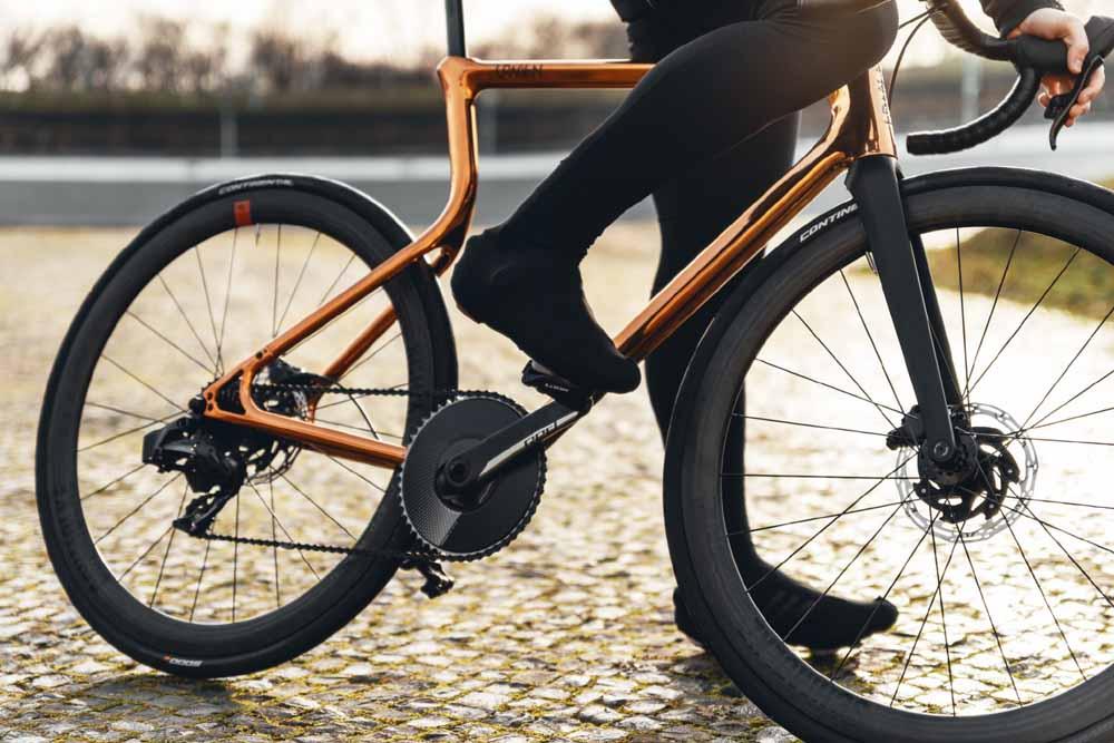 La bici con telaio in acciaio stampato 3D.
