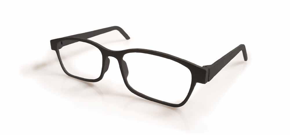 Occhiali da sole stampati in 3D realizzati in Windform P2