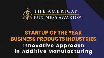 ROBOZE vince il GOLD STEVIE® AWARD per il suo approccio innovativo nella produzione additiva.