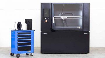 Fabbrix ELEMENTO V2  la seconda versione della stampante 3D grande formato 1000x550x500 mm