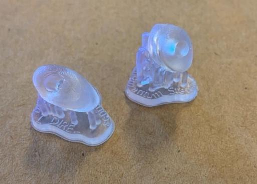auricolari stampati con Form3B