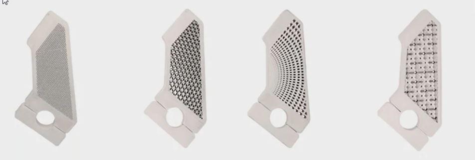 Prototipi di staffa metallica stampati con Ultrafuse 316L