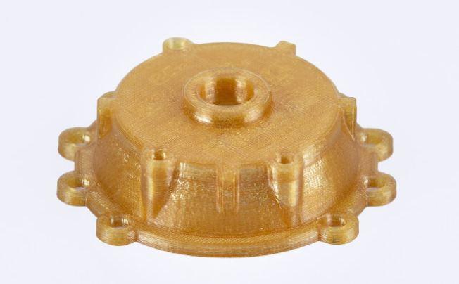 COPERCHIO COMPRESSORE D'ARIA. Cover rigida e resistente per compressore d'aria stampata in 3D con Z-PEI 1010.