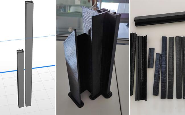 I cavi dell'alloggiamento della custodia e l'elettronica che controllano il funzionamento del riscaldatore di vetro sono stati prototipati sulle stampanti 3D Zortrax M300 Plus.