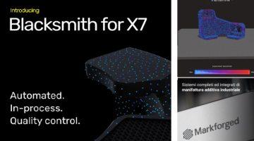 """Markforged presenta """"Blacksmith"""""""" l'intelligenza artificiale che pilota le stampanti 3D"""