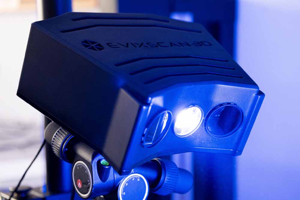 Lo scanner 3D eviXscan FinePrecision.