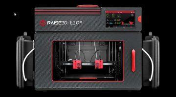 Raise3D presenta la nuova Stampante 3D Desktop Professionale E2CF per la produzione di parti in Carbonio